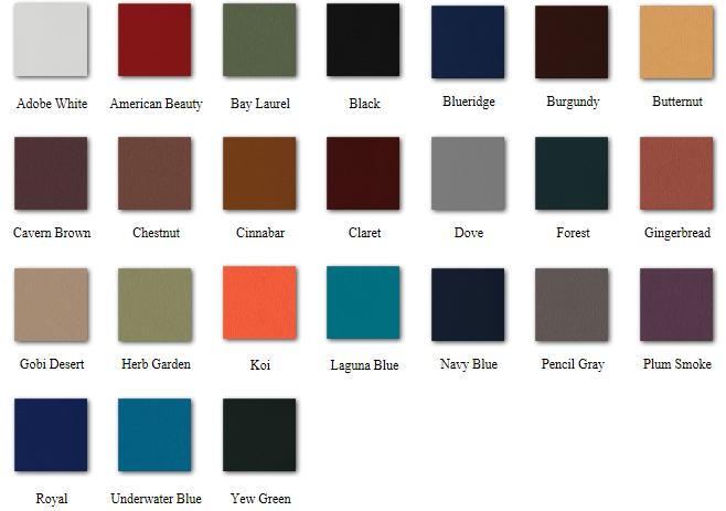 dura-comfort colors
