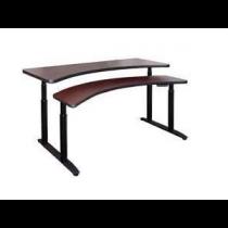 FUSION Double Drive Desk - Linear Contour Front